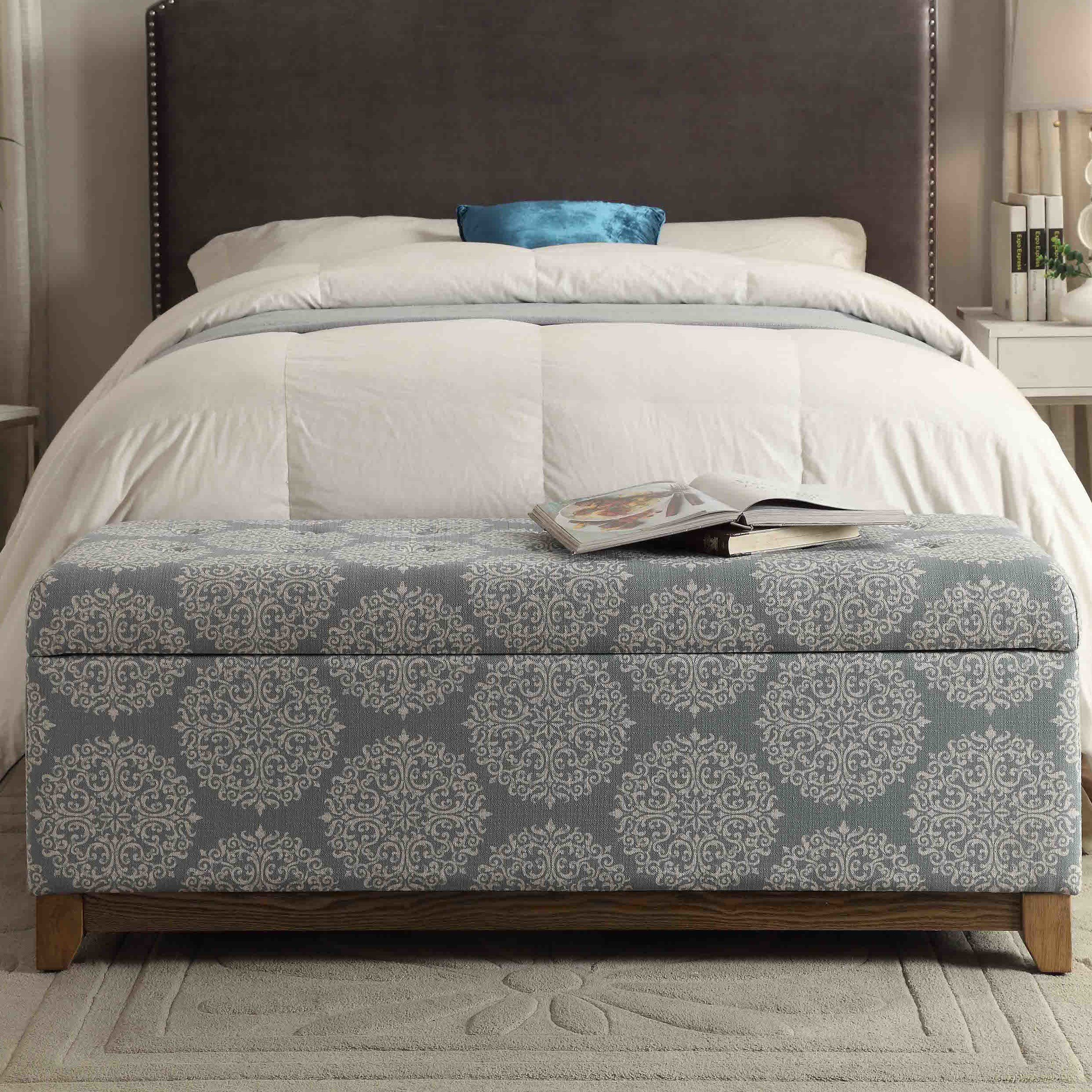 Best Bungalow Rose Navya Wood Storage Bedroom Bench Reviews Wayfair With Pictures