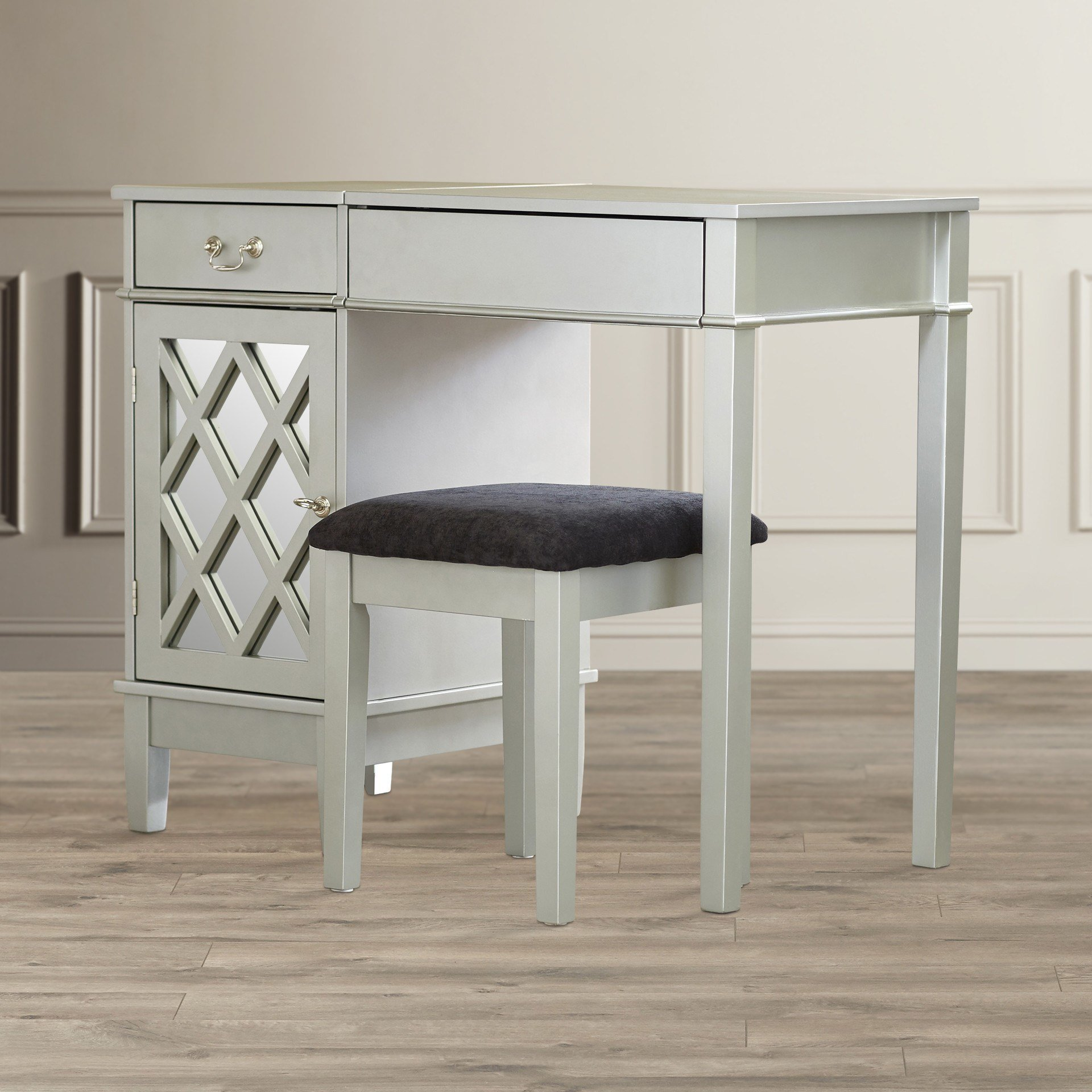 Best Mercer41 Oliver Vanity Set With Mirror Reviews Wayfair With Pictures