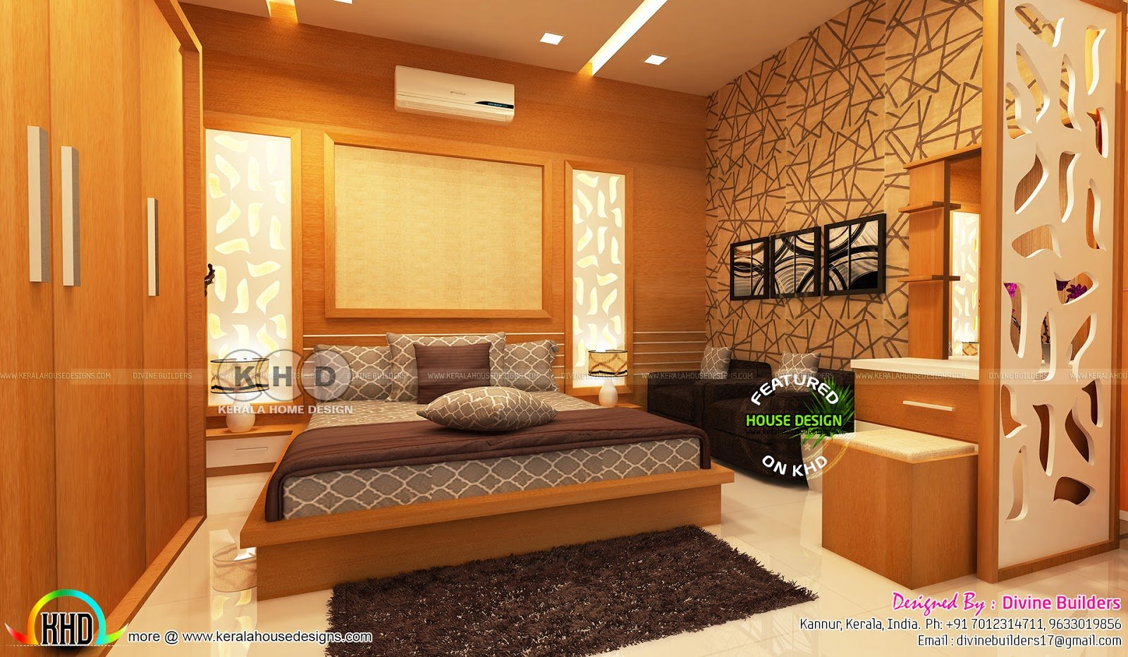 Best Kerala Interior Designs Bedroom And Dining February With Pictures