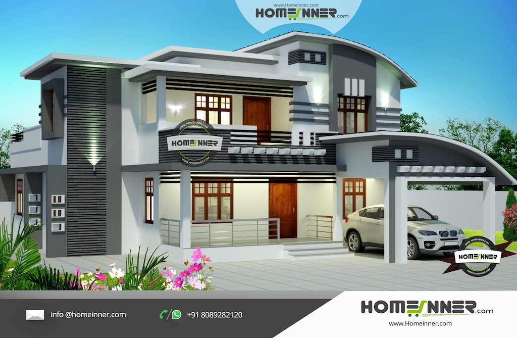 Best Kerala Contemporary 2550 Sq Ft 3 Bedroom Home Design With Pictures