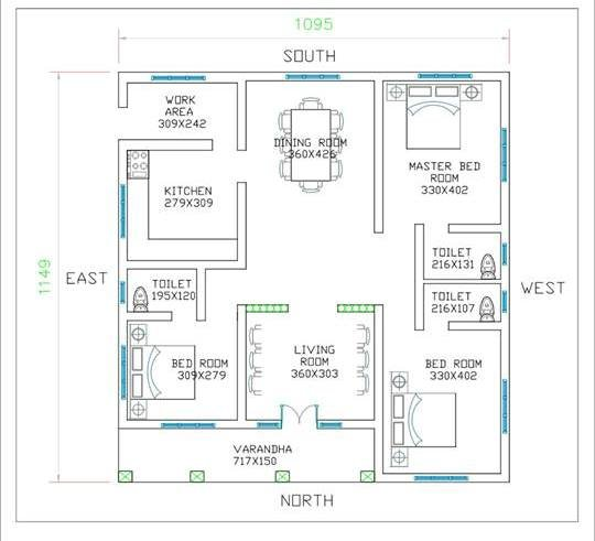 Best 3 Bedroom Low Cost Single Floor Home Design With Free Plan With Pictures