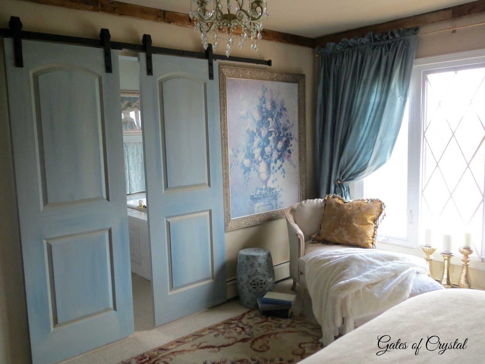 Best Gates Of Crystal A New Barn Door In The Master Bedroom With Pictures
