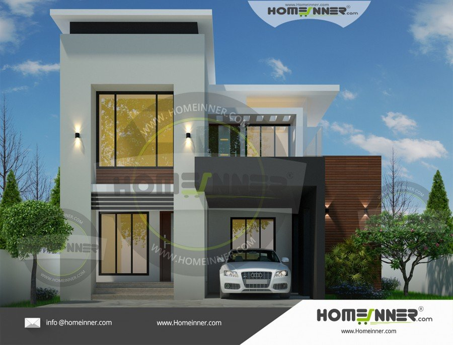 Best Two Story 1527 Sq Ft 3 Bedroom Modern House Plan With Pictures