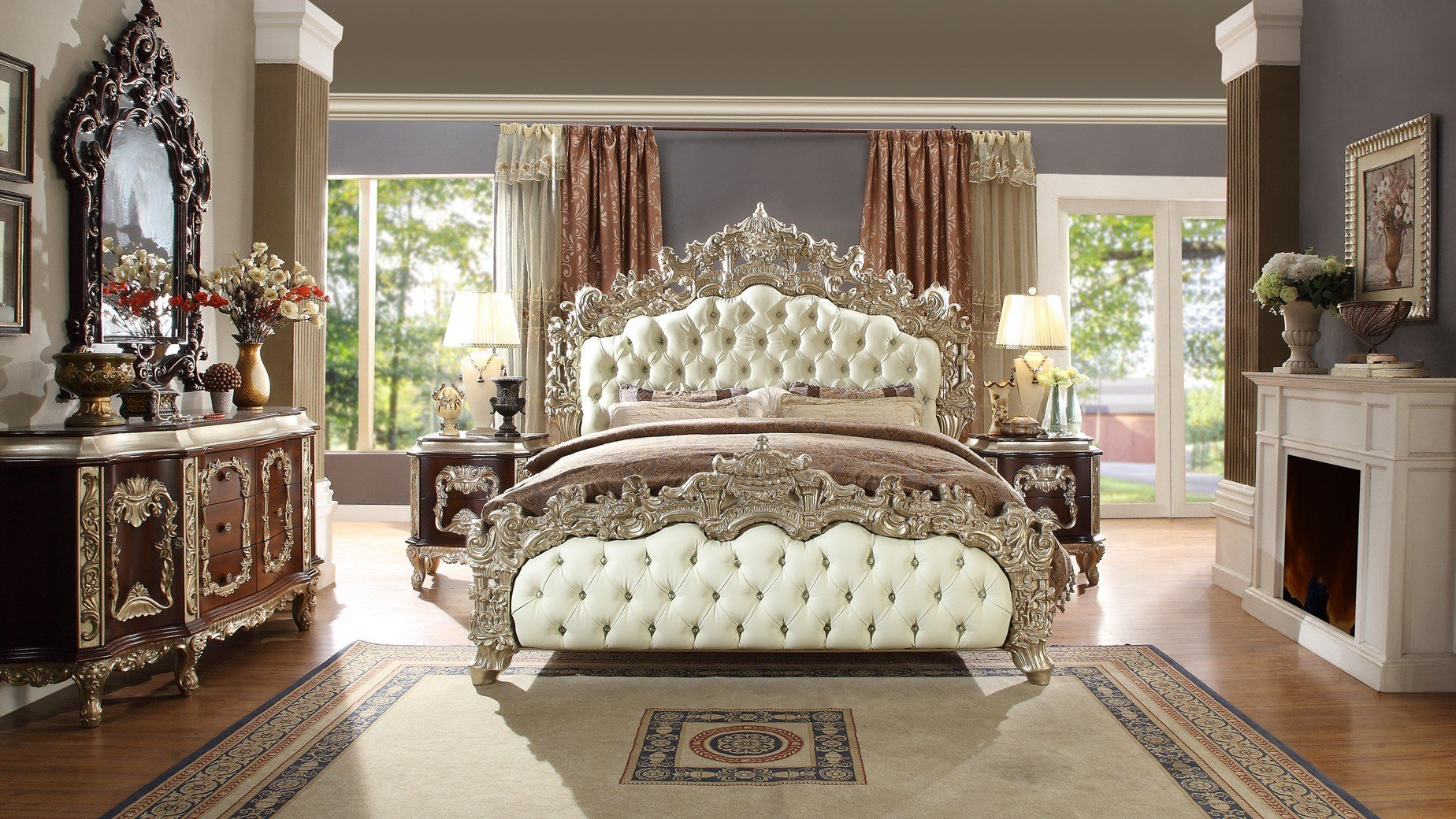 Best Hd 8017 H*M*Y Design Bedroom Set Victorian European With Pictures
