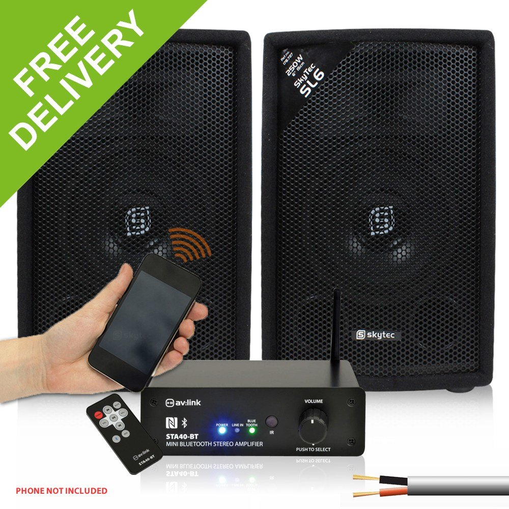 Best 2X Skytec 6 Bedroom Home Party Speakers Mini Wireless With Pictures