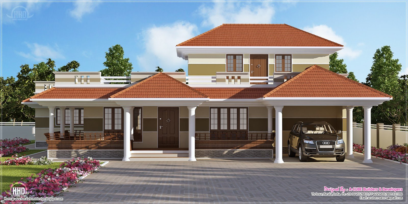 Best 3 Bedroom Kerala Style Villa Exterior Kerala Home Design With Pictures