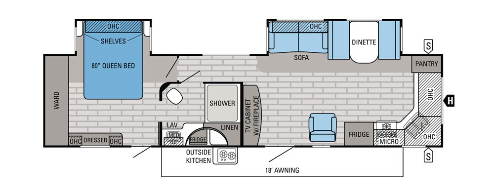 Best Popular Travel Trailer Floor Plans Camping World With Pictures