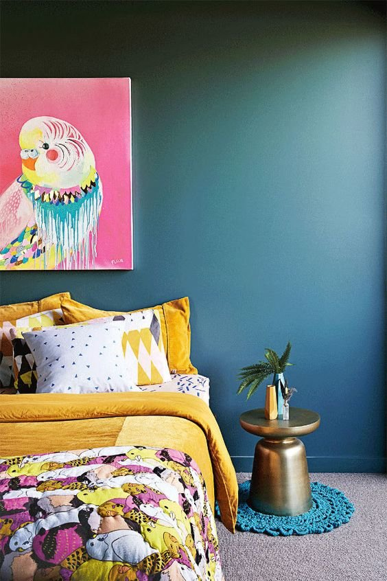 Best Bedroom Feature Wall In Teal With Pictures