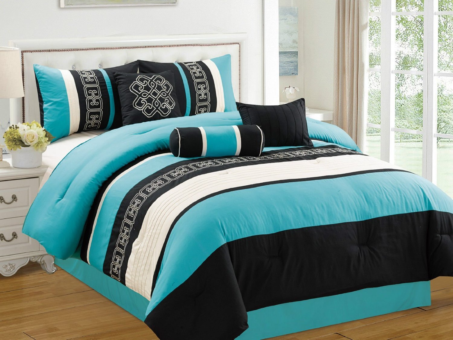 Best Black White And Turquoise Bedding Sets With Pictures