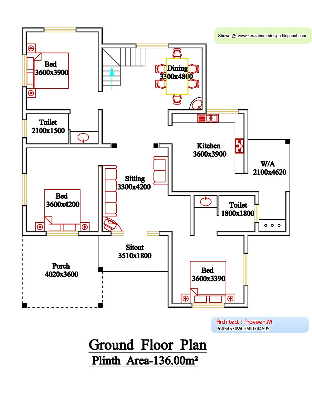 Best Kerala Style Floor Plan And Elevation 6 Home Appliance With Pictures