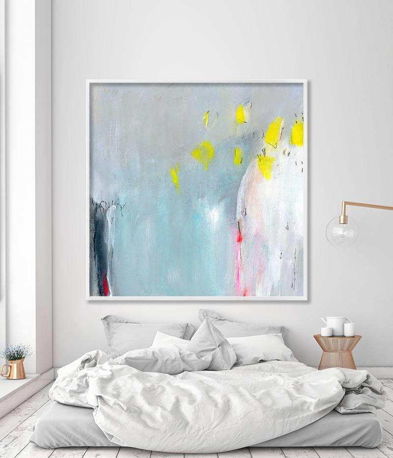 Best Abstract Painting Print Blue Abstract Decor Extra Large With Pictures