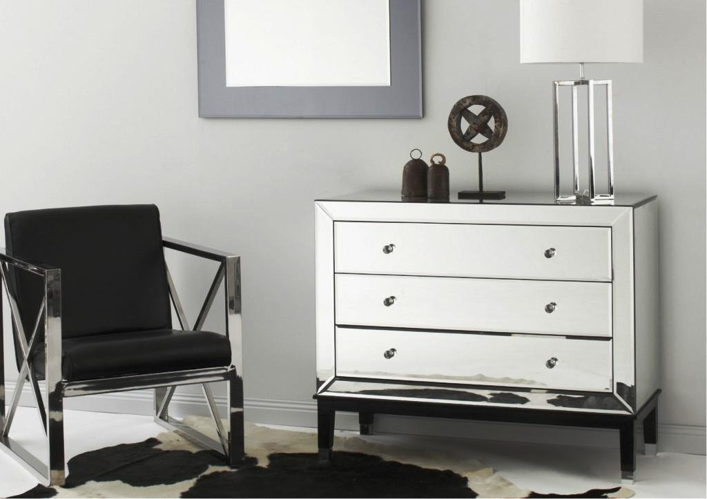 Best Mirrored Nightstand And Dresser – Loccie Better Homes With Pictures