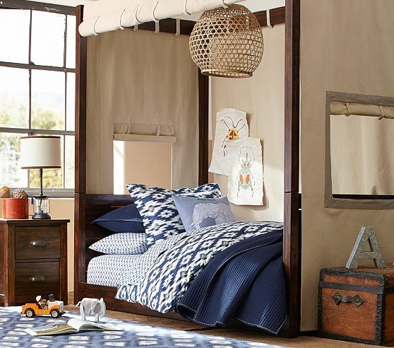 Best Sawyer Canopy Bedroom Set Pottery Barn Kids With Pictures