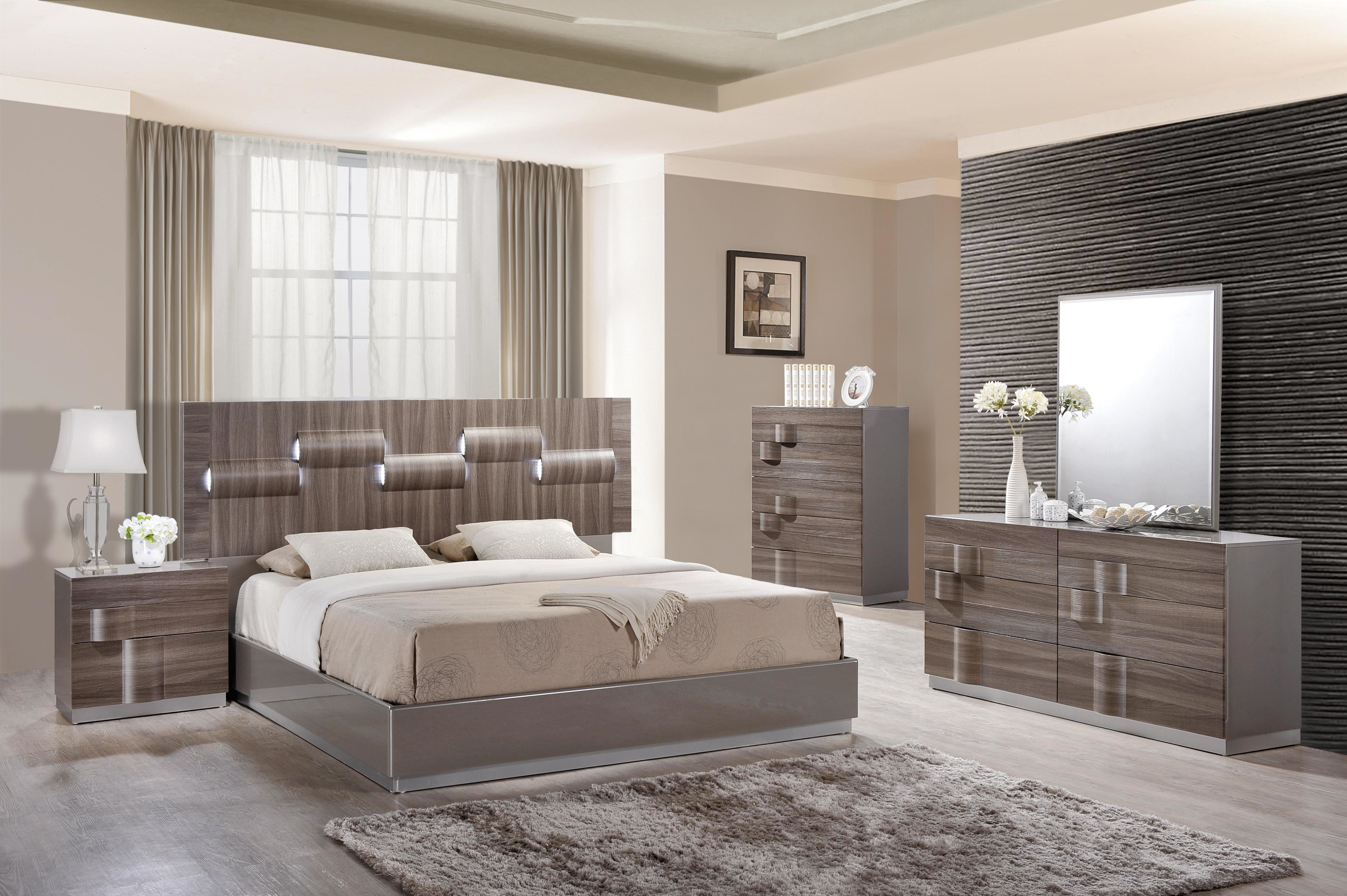 Best Glamorous Grey Zebra Wood Led Bedroom Set Philadelphia With Pictures
