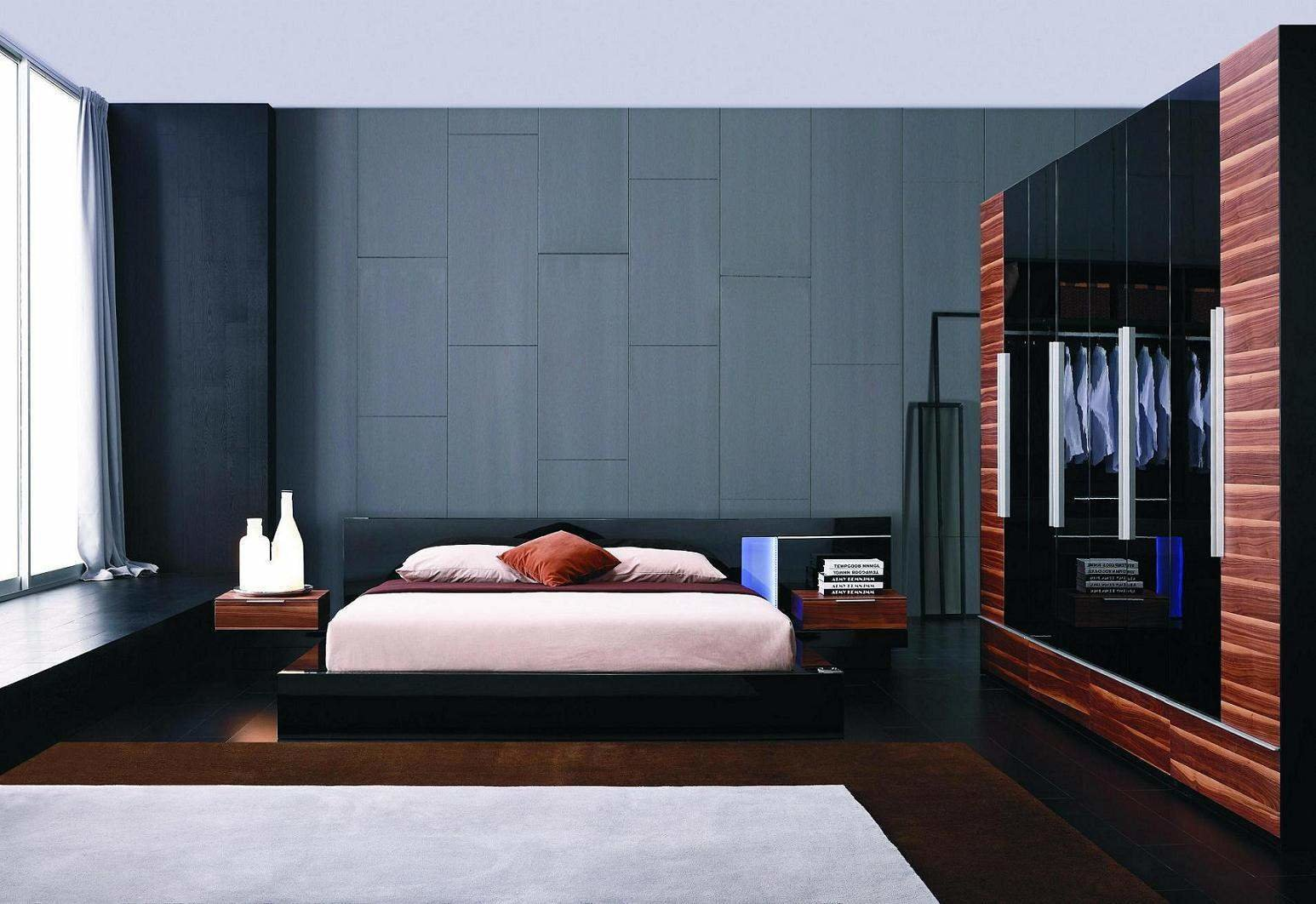 Best Exclusive Leather Designer Bedroom Set With Blue Light With Pictures