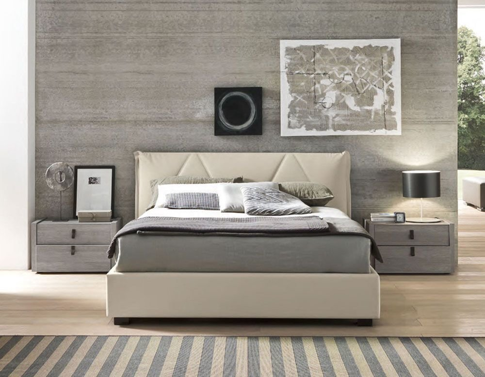 Best Made In Italy Leather Platform And Headboard Bed With With Pictures