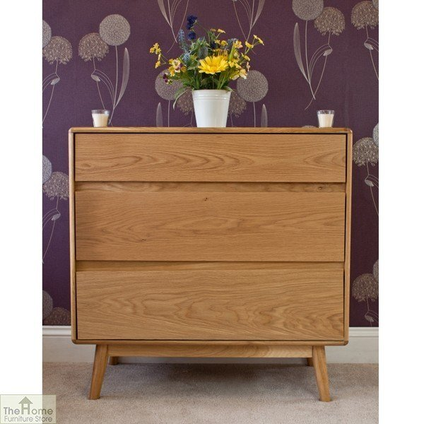 Best Casamoré Retro Style Oak 3 Drawer Chest The Home With Pictures