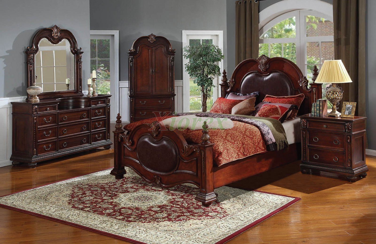 Best Poster Bedroom Furniture Set With Leather Headboard 121 With Pictures
