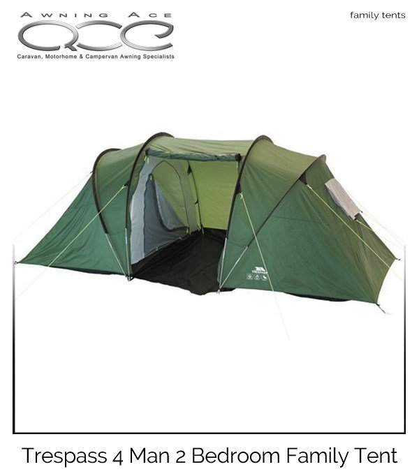 Best Trespass 4 Man 2 Bedroom Large Family Tent Awningace Com With Pictures