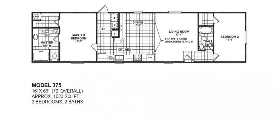 Best 2 Bedroom 2 Bath Single Wide Mobile Home Floor Plans For With Pictures