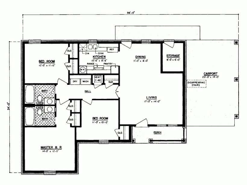 Best Floor Plans For 1100 Sq Ft Home Unique Eplans Country House Plan Three Bedroom Country 1100 With Pictures