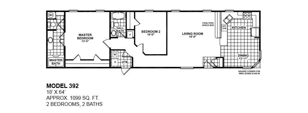 Best Lovely Single Wide Mobile Home Floor Plans 2 Bedroom New With Pictures