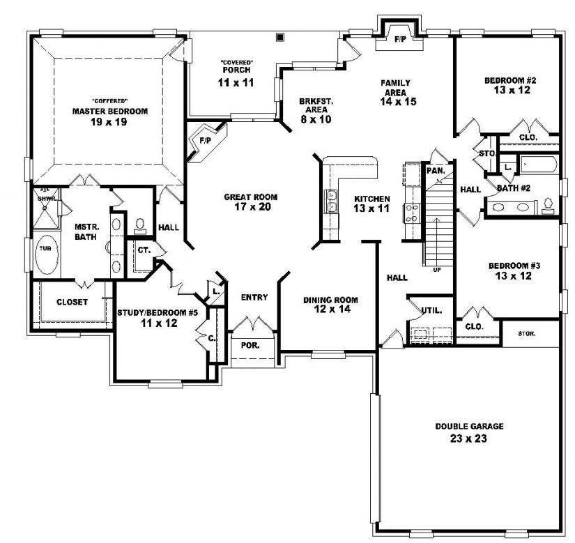 Best 2 Story 4 Bedroom House Floor Plans Fresh Two Story 4 With Pictures