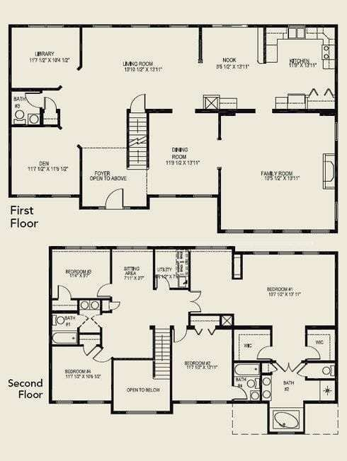 Best Luxury 4 Bedroom 2 Story House Floor Plans New Home With Pictures