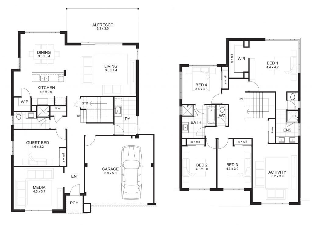 Best 6 Bedroom Double Storey House Plans Luxury 6 Bedroom House Plans Perth Corepadfo Pinterest New With Pictures