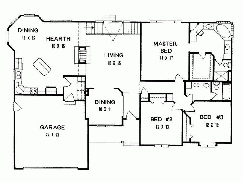 Best New 3 Bedroom Ranch House Floor Plans New Home Plans Design With Pictures