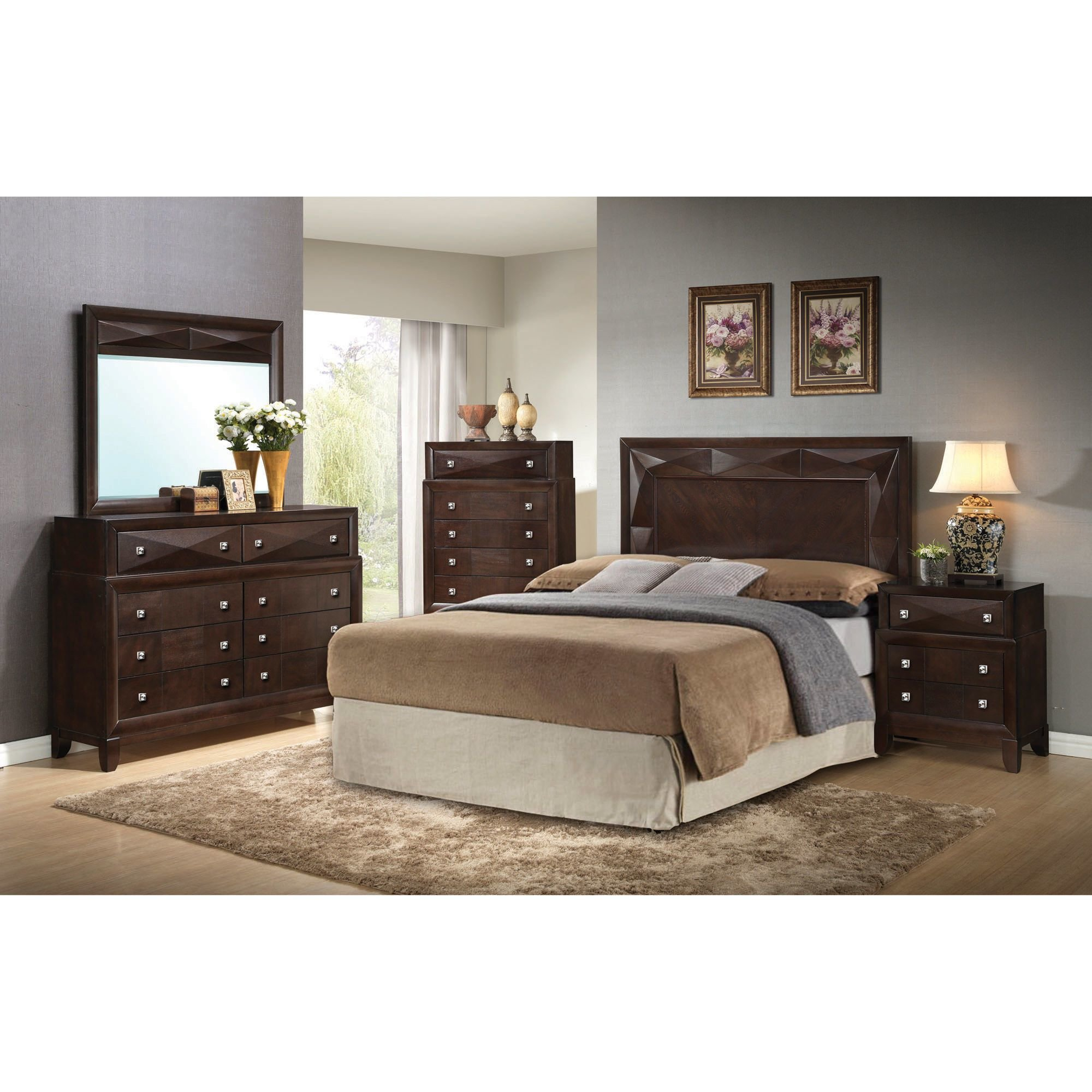 Best Step One Furniture Bedroom Groups 5 Piece Kingsbury Queen Bedroom Collection With Pictures