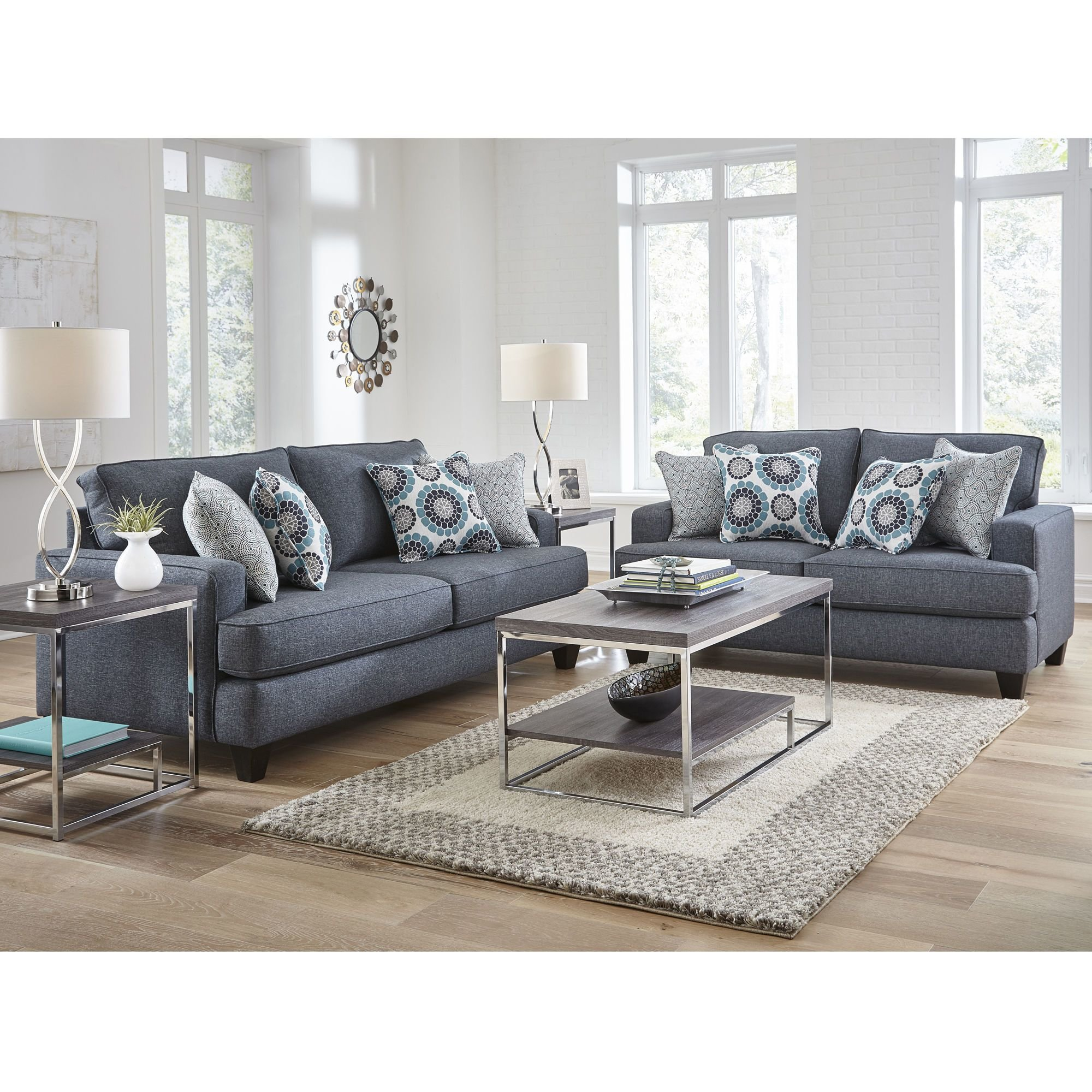 Best Woodhaven Industries Sofa Loveseat Sets 2 Piece Carmela With Pictures