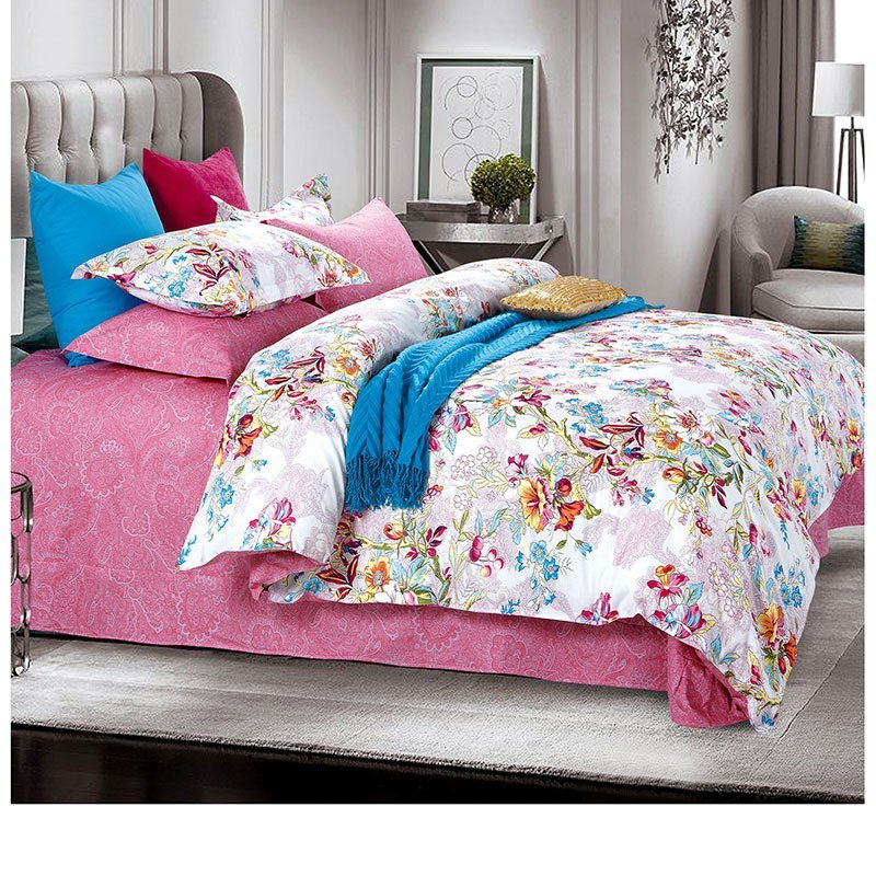 Best Sophisticated Pink And White Cotton Bedding Set Ebeddingsets With Pictures