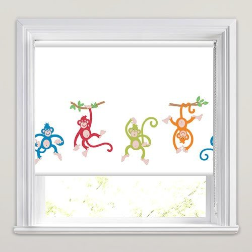 Best Gorgeous Cheeky Chimp's Kids Patterned Blackout Roller Blinds With Pictures