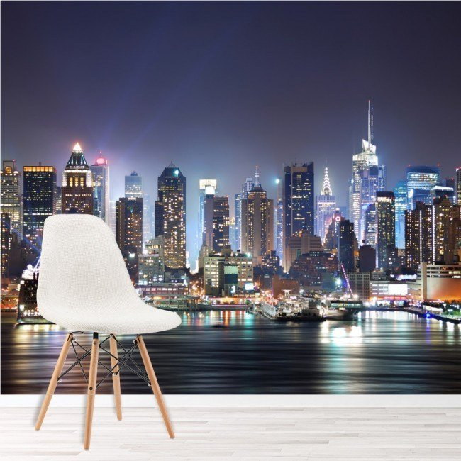 Best New York City Wall Mural Skyscraper Skyline Photo With Pictures