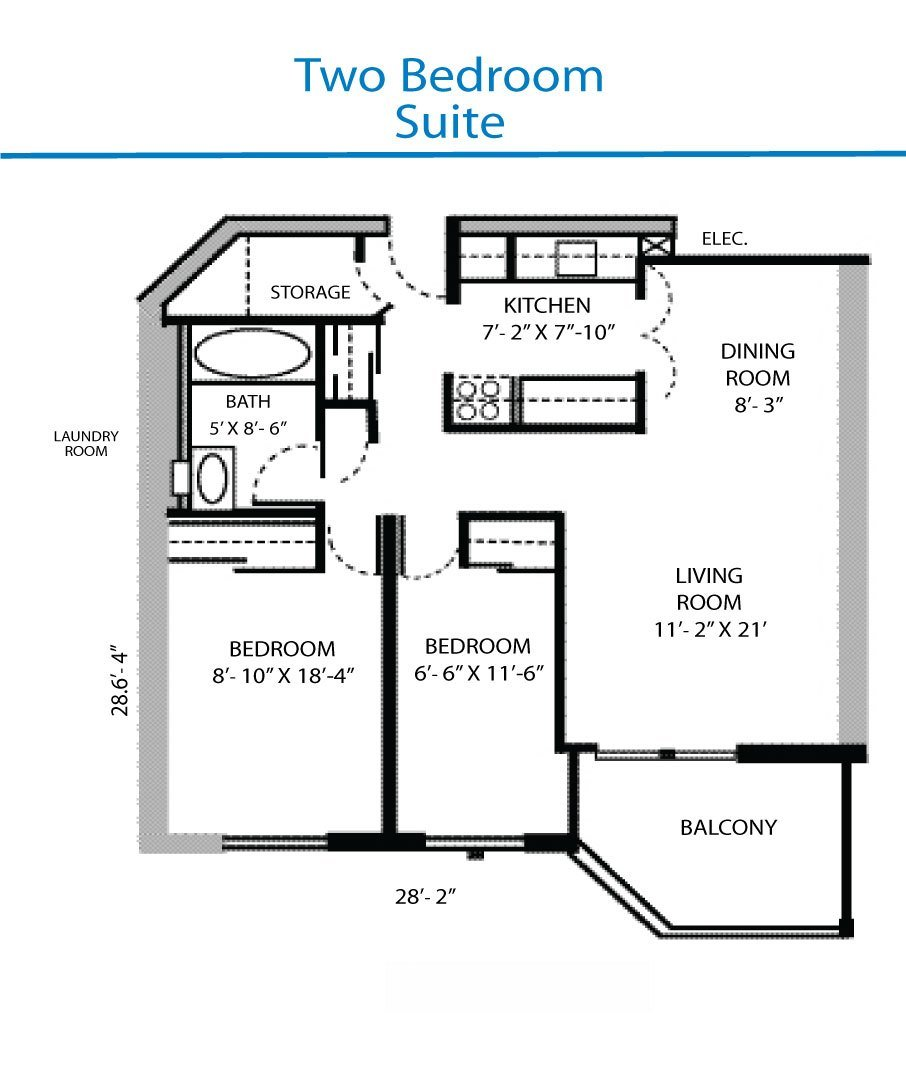 Best Floor Plan Of The Two Bedroom Suite Quinte Living Centre With Pictures