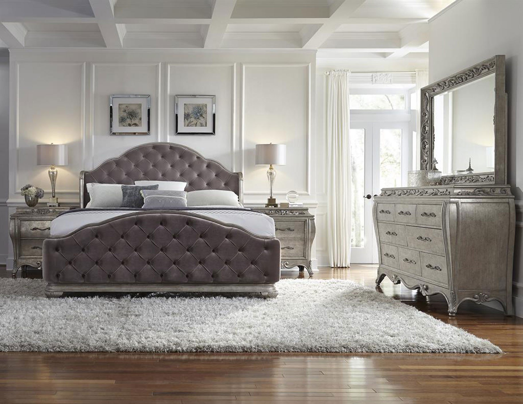 Best Pulaski Furniture Rhianna Upholstered 4 Piece Bedroom Set With Pictures