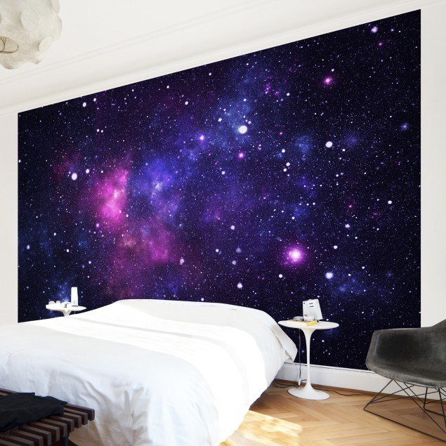 Best Non Woven Wallpaper Galaxy Mural Wide With Pictures