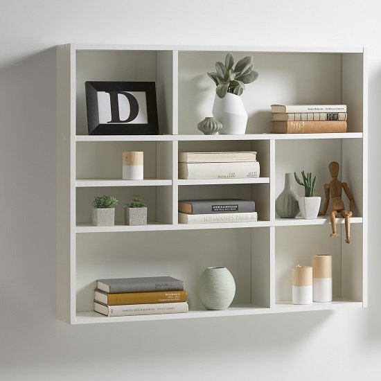 Best Andreas Wall Mounted Shelving Unit In White 27391 Furniture With Pictures