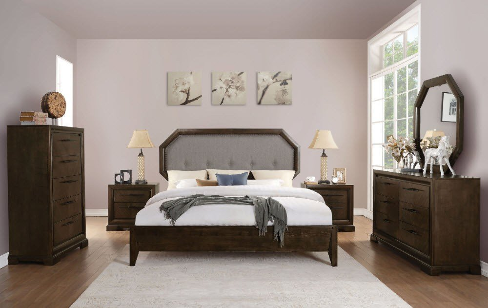 Best Fine Furniture San Diego Bedroom Bedroom Sets Selma Tobacco Clipped Corner Bed With Pictures