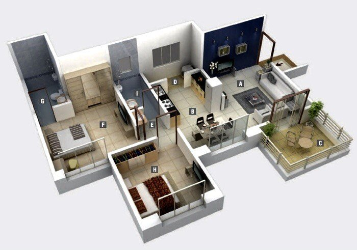 Best Exclusive Twenty Two 2 Bedroom House Plan With Pictures
