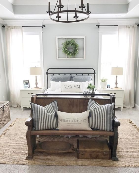 Best 21 Rustic Farmhouse Bedroom Decor Inspiration Ideas With Pictures