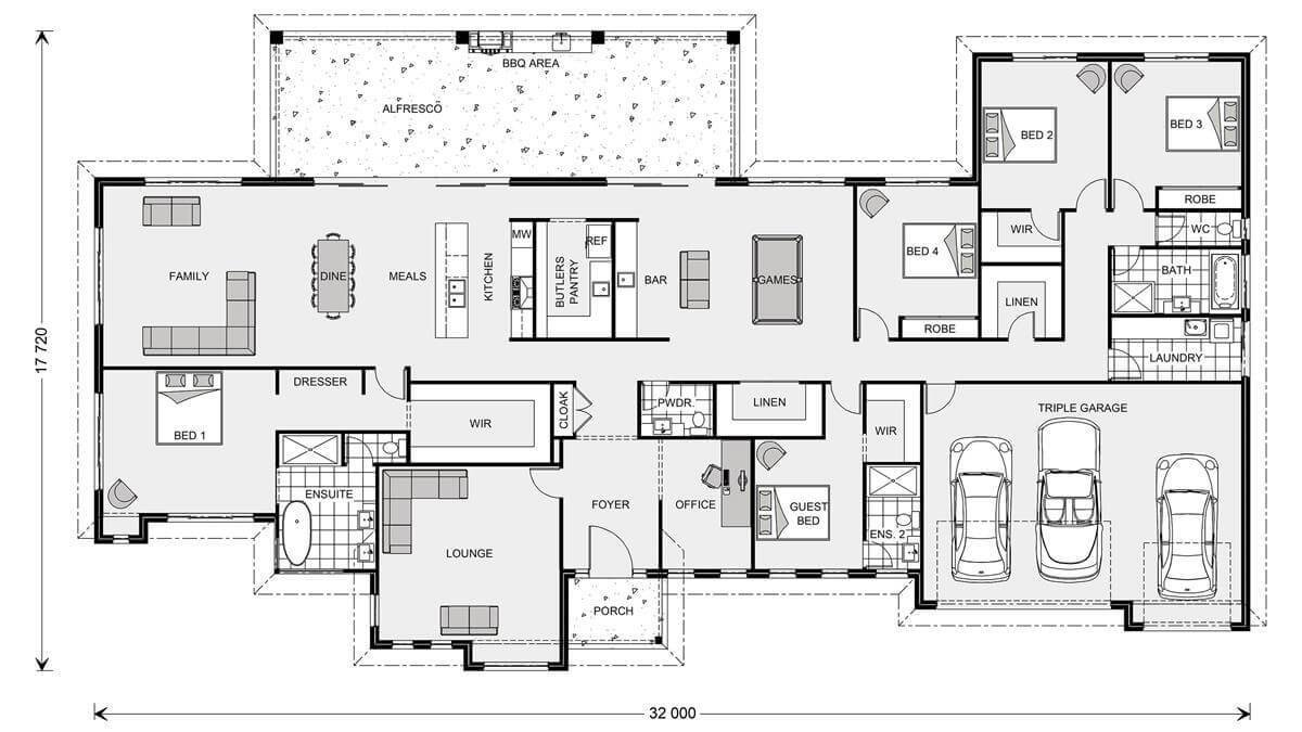 Best Floor Plan Friday 5 Bedroom Acreage Style Home With With Pictures