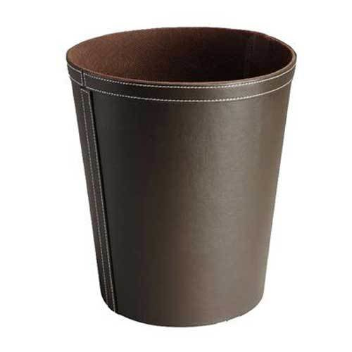 Best Hotel Bedroom Waste Bin Luxury Faux Leather Round 9 With Pictures