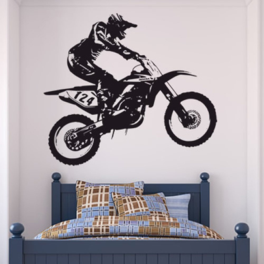 Best Dirt Bike Trick Wall Sticker Motocross Motorbike Wall With Pictures