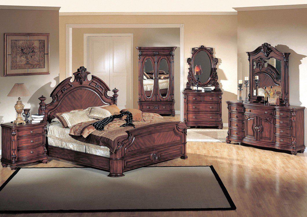 Best Yuan Tai Corina 4Pc Queen Size Panel Bedroom Set In Dark With Pictures