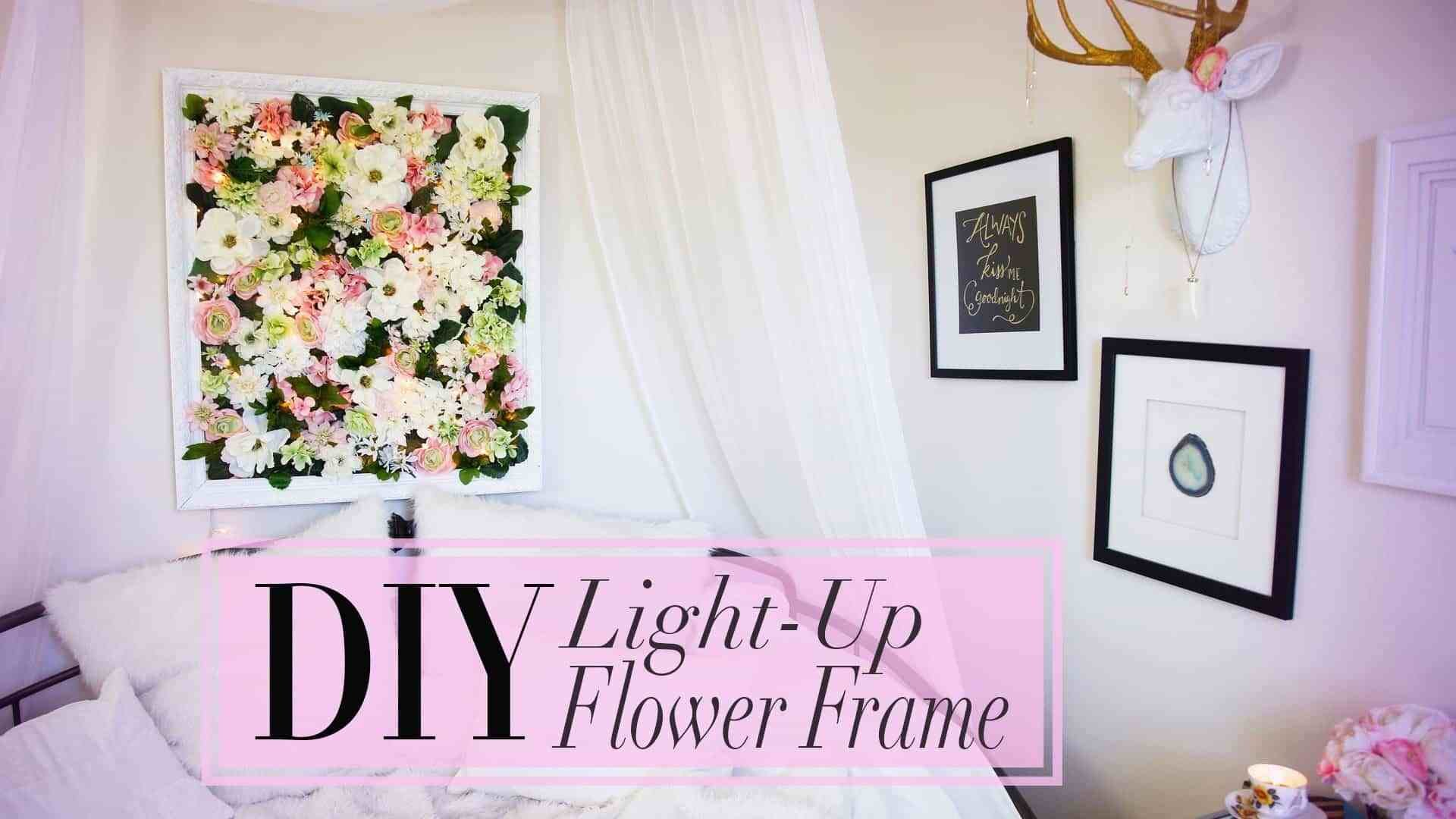 Best Diy Flower Frame With Christmas Lights With Pictures