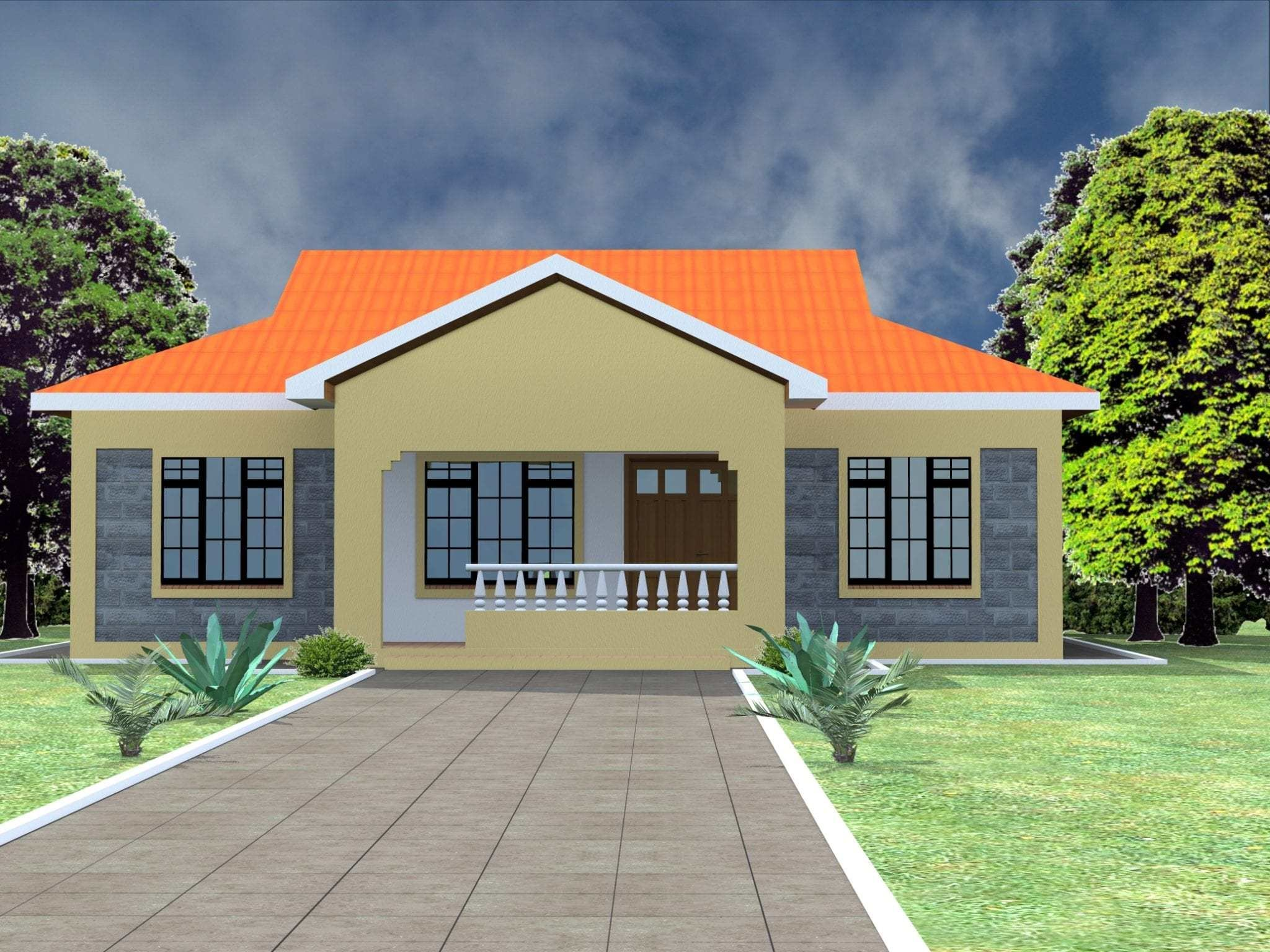Best Low Budget Modern 3 Bedroom House Design – Bm Design With Pictures