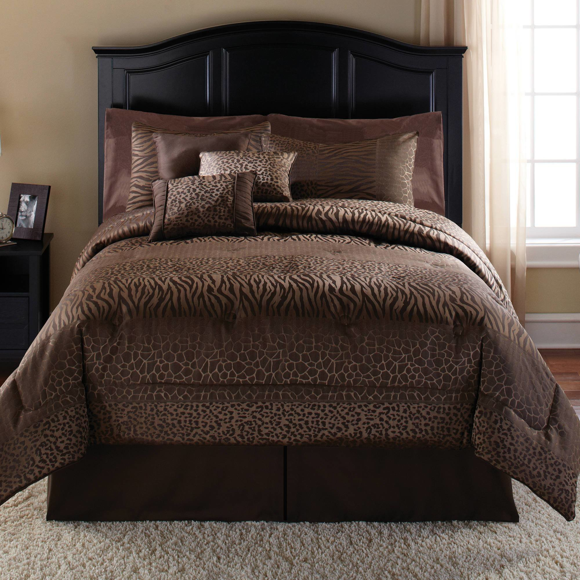 Best Mainstays Safari 7 Piece Bedding Comforter Set Walmart Com With Pictures