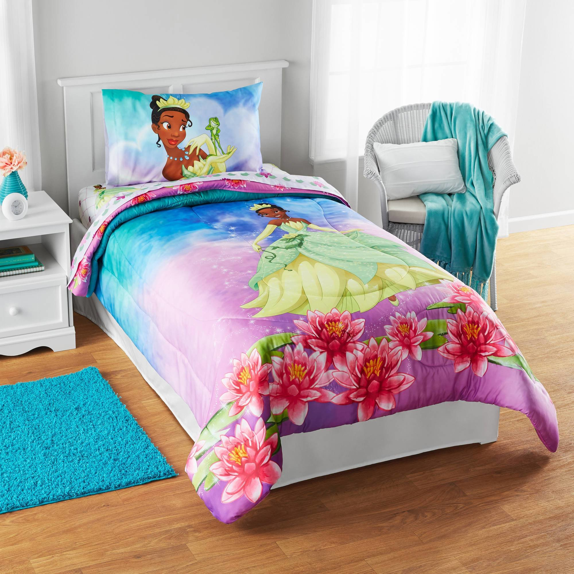 Best Disney Tiana Tiana Dreams Reversible Twin Full Bedding With Pictures